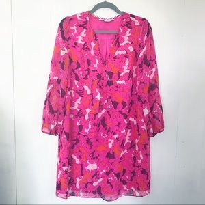 DVF | Pink Floral Aria Dress